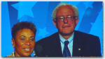 Barbara Lee & Bernie Sanders
